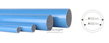 Blue color aluminum pipe