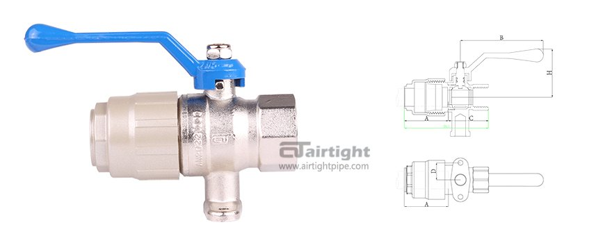Fast-install single thread valve