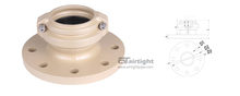Fast-install reducer flange